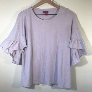 Vince Camuto Lavender/Purple Tulip Sleeved Shirt